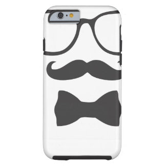 Schnurrbart-Hipster Bowtie Gläser Tough iPhone 6 Hülle