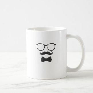 Schnurrbart-Hipster Bowtie Gläser Tassen