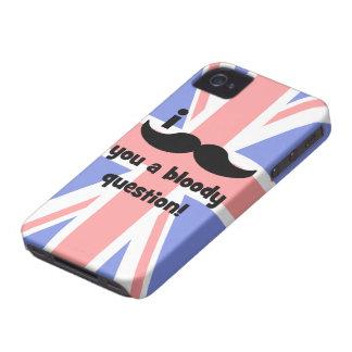 Schnurrbart I Sie eine blutige Frage Case-Mate iPhone 4 Hülle