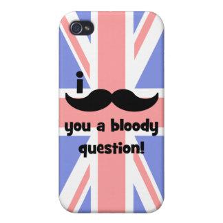 Schnurrbart I Sie eine blutige Frage iPhone 4 Cover