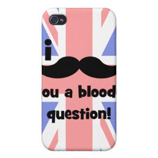 Schnurrbart I Sie eine blutige Frage iPhone 4 Schutzhüllen