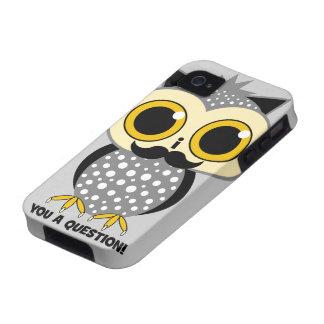 Schnurrbart I Sie eine Frage Vibe iPhone 4 Hülle