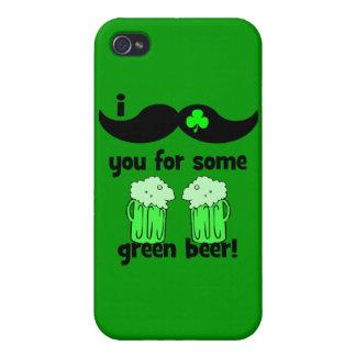 Schnurrbart I Sie für etwas grünes Bier! iPhone 4 Hüllen