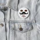 Schnurrbart I Sie für Kaffeeknopf Runder Button 5,7 Cm