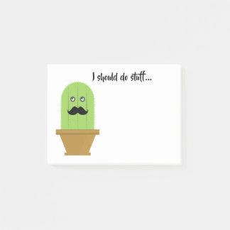 Schnurrbart-Kaktus-klebrige Anmerkungen Post-it Klebezettel