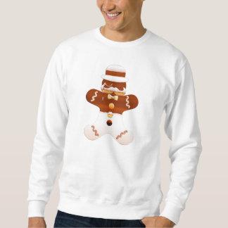 Schnurrbart-Schnurrbart-Lebkuchen-Mann-T-Stück Sweatshirt