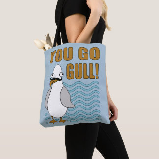 Schnurrbart-Seemöwe gehen Sie Möve Tasche