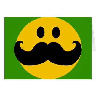 Schnurrbart-smiley (kundengerechte karte