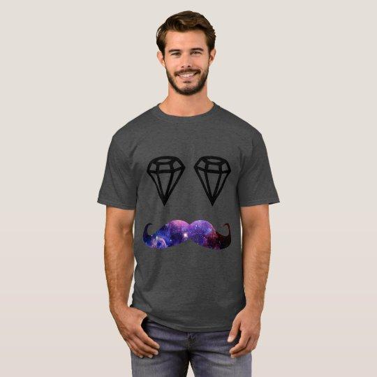 Schnurrbart und Diamanten T-Shirt