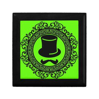 Schnurrbarthut-Hipster-Andenkenkasten mit Ordnung Erinnerungskiste