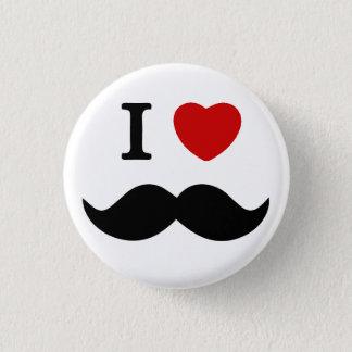 Schnurrbartknopf der Liebe I Runder Button 2,5 Cm