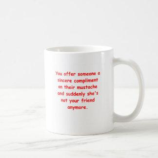 Schnurrbartwitz Kaffeetasse