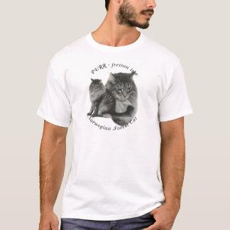 Schnurren-fection norwegische Waldkatze T-Shirt