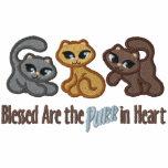 Schnurren im Herzen Besticktes Kapuzenpulli