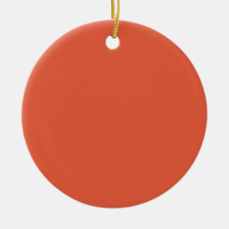 Schockierende Orange Rundes Keramik Ornament