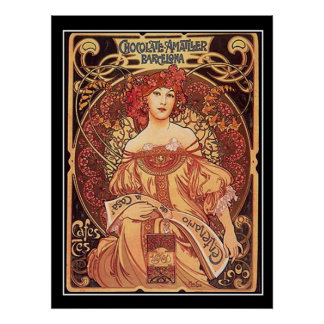 Schokolade Amatller Vintages Plakat-Alphons mucha
