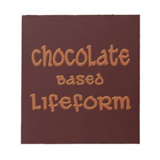 Schokolade basierte Lifeform Notizblock