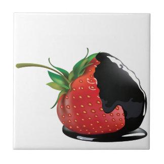 Schokolade bedeckte Erdbeere Keramikfliesen
