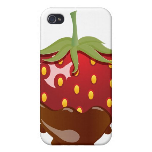 Schokolade bedeckte Erdbeere iPhone 4 Schutzhülle