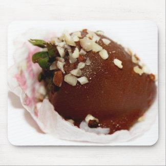 Schokolade bedeckte Erdbeere Mauspad