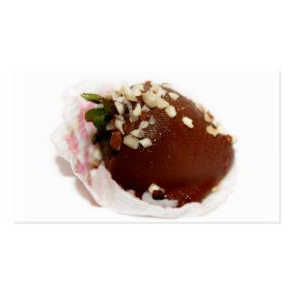 Schokolade bedeckte Erdbeere Visitenkarten