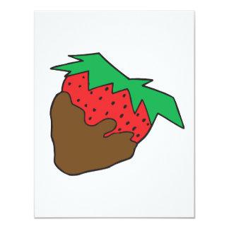 Schokolade bedeckte Erdbeere yum Individuelle Einladung