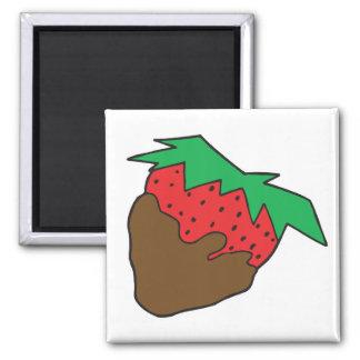 Schokolade bedeckte Erdbeere yum Kühlschrankmagnet