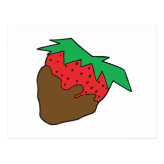 Schokolade bedeckte Erdbeere yum Postkarte