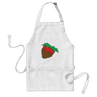 Schokolade bedeckte Erdbeere yum Schürze
