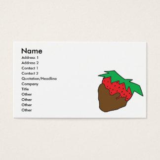 Schokolade bedeckte Erdbeere yum Visitenkarte