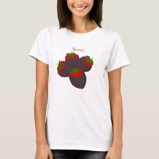 Schokolade bedeckte ErdbeerShirt T-Shirt