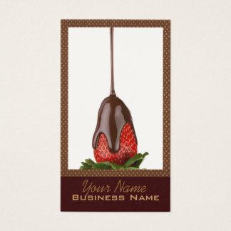 Schokolade bedeckte ErdbeerVisitenkarten Visitenkarten