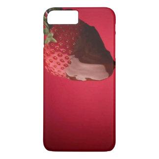 Schokolade bedeckte Erdbeerwüste iPhone 7 Plus Hülle