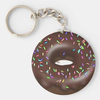 Schokolade besprühen gefrorenes Krapfen keychain Schlüsselanhänger