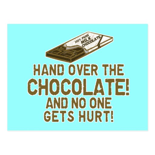 Schokolade Chocoholic Postkarten