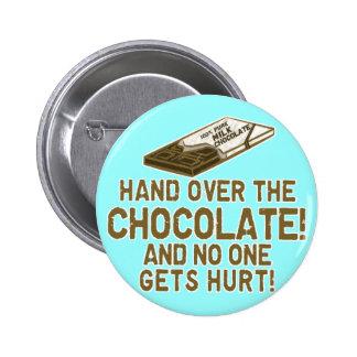 Schokolade Chocoholic Runder Button 5,7 Cm