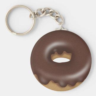 Schokolade gefror Krapfen-Cartoon-Bäckerei Schlüsselanhänger