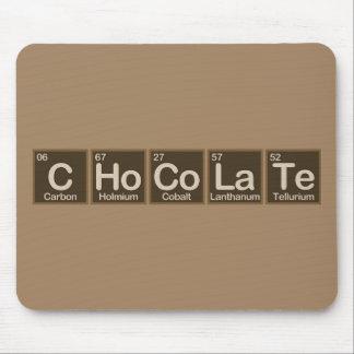 Schokolade gemacht von den Elementen Mousepad