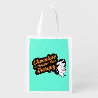 Schokolade ist billiger als wiederverwendbare wiederverwendbare einkaufstasche
