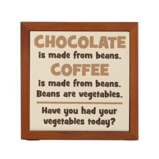 Schokolade, Kaffee, Bohnen, Gemüse - Neuheit Stifthalter