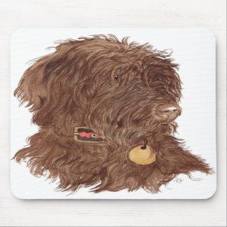 Schokolade Labradoodle Xena Mousepad