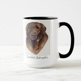 Schokolade Labrador gemalt in der Wasserfarbe Tasse