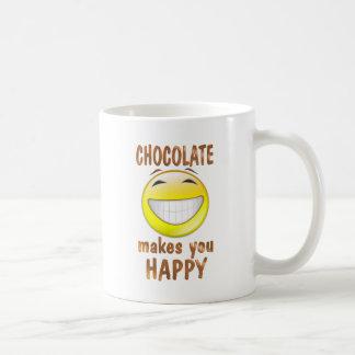 Schokolade macht Sie glücklich Kaffeetasse