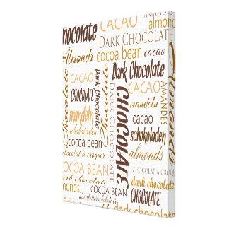 Schokolade, Mandeln und dunkle Leinwanddruck