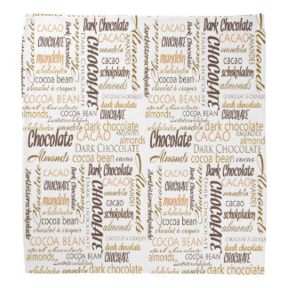 Schokolade, Mandeln und dunkler Kopftuch