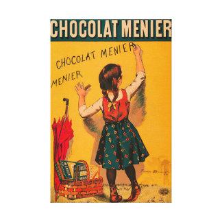 Schokolade Menier französische Vintage Anzeige Leinwanddruck