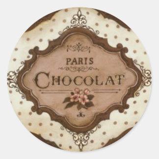 Schokolade Runder Aufkleber