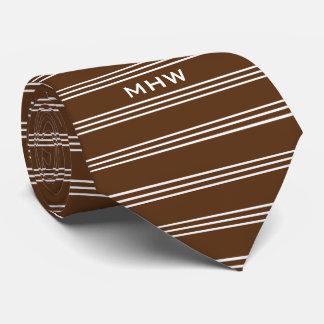 Schokolade Stripes kundenspezifische Krawatte