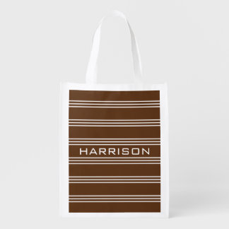 Schokolade Stripes wiederverwendbare Tasche des Wiederverwendbare Einkaufstasche