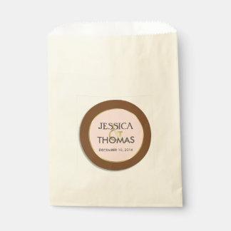 Schokolade, Tee-Rose und Goldeinfache Eleganz Geschenktütchen